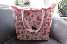Atmosphere Pink Roses Cotton Tote Bag new with tags