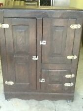 Antique 3-door Wooden Icebox