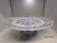 Meissen Blue Onion Cake Plate Germany