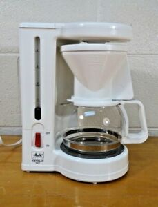 Melitta Gevalia Kaffe 4-Cup Coffee Maker BCM-4C WHITE EXCELLENT condition