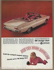 1966 DODGE DART advertisement, Dart GT convertible, large size advert