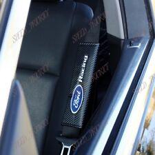 New Black Carbon Fiber Look Seat Belt Cover Shoulder Pads For FORD RACING - X2