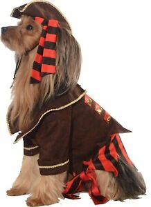 Pirate Boy Caribbean Captain Fancy Dress Pet Shop Halloween Dog Cat Costume