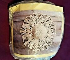 Straw Hat Door Ornament Kit~Antique-Ecru cotton yarn~Hook not Incl. Collectible