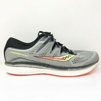 Saucony Mens Triumph ISO 5 S20463-1 Gray Black Running Shoes Lace Up Size 12.5 W