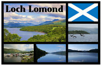 LOCH LOMOND, SCOTLAND - SOUVENIR NOVELTY FRIDGE MAGNET - GIFTS / SIGHTS / FLAGS