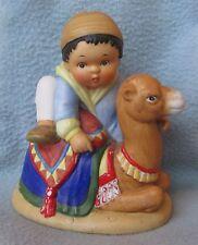 """Franklin Porcelain U.N. Children 5"""" Figurine 1979. Khalil from Morocco"""
