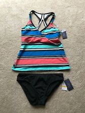 Jag 2 Piece Tankini Swimsuit, Underwire Top 32 D/DD, Bottom Small, NWT