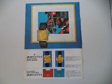 advertising Pubblicità 1967 OROLOGIO ZENITH ORO 18K