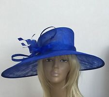 New Large Royal Blue Women's Sinamay Wedding Hat Mother Of The Bride/Groom Races