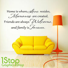 LOVE MEMORIES WALL STICKER QUOTE - HOME BEDROOM LOUNGE WALL ART DECAL X115