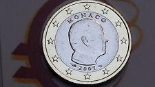 MONACO 1 euro 2007 Principe ALBERTO prince albert II Монако