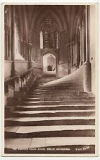 Somerset; Chapter House Steps, Wells Cathedral RP PPC By Walter Scott, Unposted