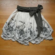 RYU Feminine Embroidered Scalloped Skirt Romantic Bow Sash S