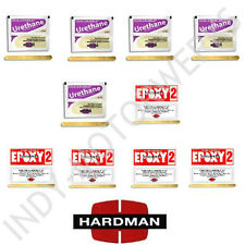 HARDMAN EPOXY DOUBLE BUBBLE PACK PURPLE BEIGE + RED 2 NON SAG 04024 04008 5 EACH