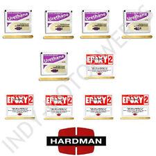 HARDMAN EPOXY DOUBLE BUBBLE PACK PURPLE BEIGE + RED 2 NON SAG 04024 04008 5 EACH
