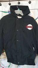 San Francisco Giants Vintage Jacket Sz Small DeLong Retro MLB SF Black Orange