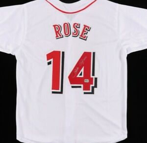 Pete Rose Signed Jersey (Fiterman Sports Hologram)Cincinnati Reds