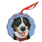 Greater Swiss Mountain Dog Holiday Porcelain Christmas Tree Ornament