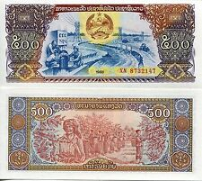 Lao Laos 1988 500 Kip UNC Uncirculated Communist Banknote Currency Money