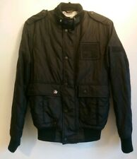 Men's Barbour Steve McQueen Black Quilted Nati Jacket Size Small S Fleece Lined