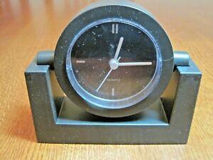 Premium Quartz Swivel Desk Clock Modern Includes Battery (1-AA) See Specifics