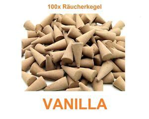 100x Räucherkegel lose, Vanille Vanilla +NEU+