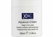 4 x XBC Aqueous Body Cream Moisturiser Fragrance Free 500ml