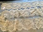 """Bobbin Lace Flounce 176"""" X 6"""" Excellent Condition, No Stains Or Damage Beautiful"""