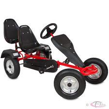 Go kart à pedales 2 places cart biplace véhicule enfants voitur  – rouge