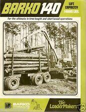 Equipment Brochure - Barko - 140 - Log Loader for Logging Truck - 1974 (E1386)