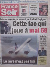 ▬► Journal France Soir 31/05/2003 Jacques Dutronc Prince Rainier Monaco Concorde