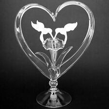 Hummingbird Blown Glass Wedding Cake Top Topper Crystal
