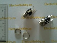 2x Conector Hembra Panel, Power Jack DC 5,5 x 2,1 mm - Electronica, arduino.