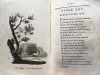 1814 FABLES CHOIX CONTES CHARMANT LIVRE JOLIES GRAVURES BOOK POESIE ENFANTINA