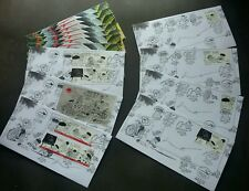 Malaysia Cartoons Lat 2008 Animation (complete stamp week FDC set) *signed *rare