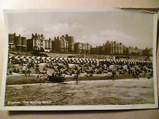 1930 Used RP Postcard- BRIGHTON, THE BATHING BEACH, Sussex + STAMP