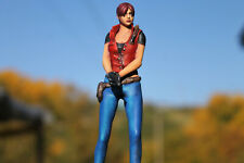 Custom Claire Redfield Resident Evil 2 Remake Collection Figurine Biohazard