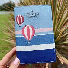 Kate Spade New York Up Up & Away Hot Air Balloon Passport Holder Blue Multi
