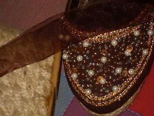 alpargatas cuña de vestir perlas abalorios lazo nº36 como nuevas raras