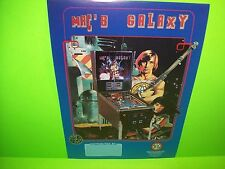 MAC Mac's Galaxy Original Flipper Game Pinball Machine Promo Sales Flyer Spain