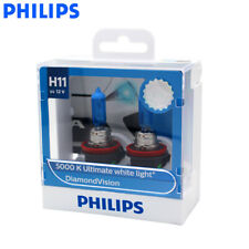 Genuine PHILIPS Diamond Vision Headlight Bulbs H11 12V 55W 5000K - Twin Pack