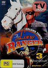 The Lone Ranger Vol. 1 (DVD) 3 Classic Episodes, Like new, Free shipping