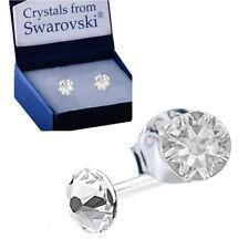 4ac5c456b 925 Sterling Silver Stud Earrings Clear Genuine Xirius 4 mm Swarovski®  Crystals