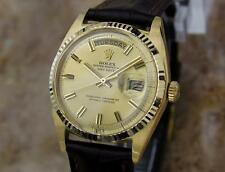 Rolex 1803 Swiss 18K Solid Gold Mens 1977 Day Date Automatic Luxury Watch AA1