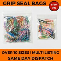Grip Seal Bags Self Press and Resealable ZipLock Polythene Clear Bags