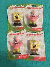 Set Of 4 New Nickelodeon SpongeBob SquarePants & Patrick Star Plastic Figurines