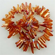 1Strand Titanium crystal Agate Druzy Quartz Geode stone Loose Bead MZZ