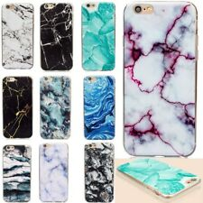 Thin Rubber Soft TPU Marble Pattern Back Case Cover For iPhone X 5 6 6s 7 8 Plus