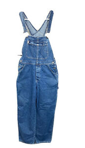Mens Guess Workwear Denim Overalls Size Medium Made in USA Bibbed Excellent
